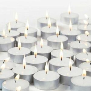 Tealight Wax Candles ( Set of 100, White )