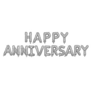 Happy Anniversary Letter Balloons (Silver – 16 Alphabets)